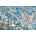 Tapis TORI Turquoise / Doré 120cm x 170cm4