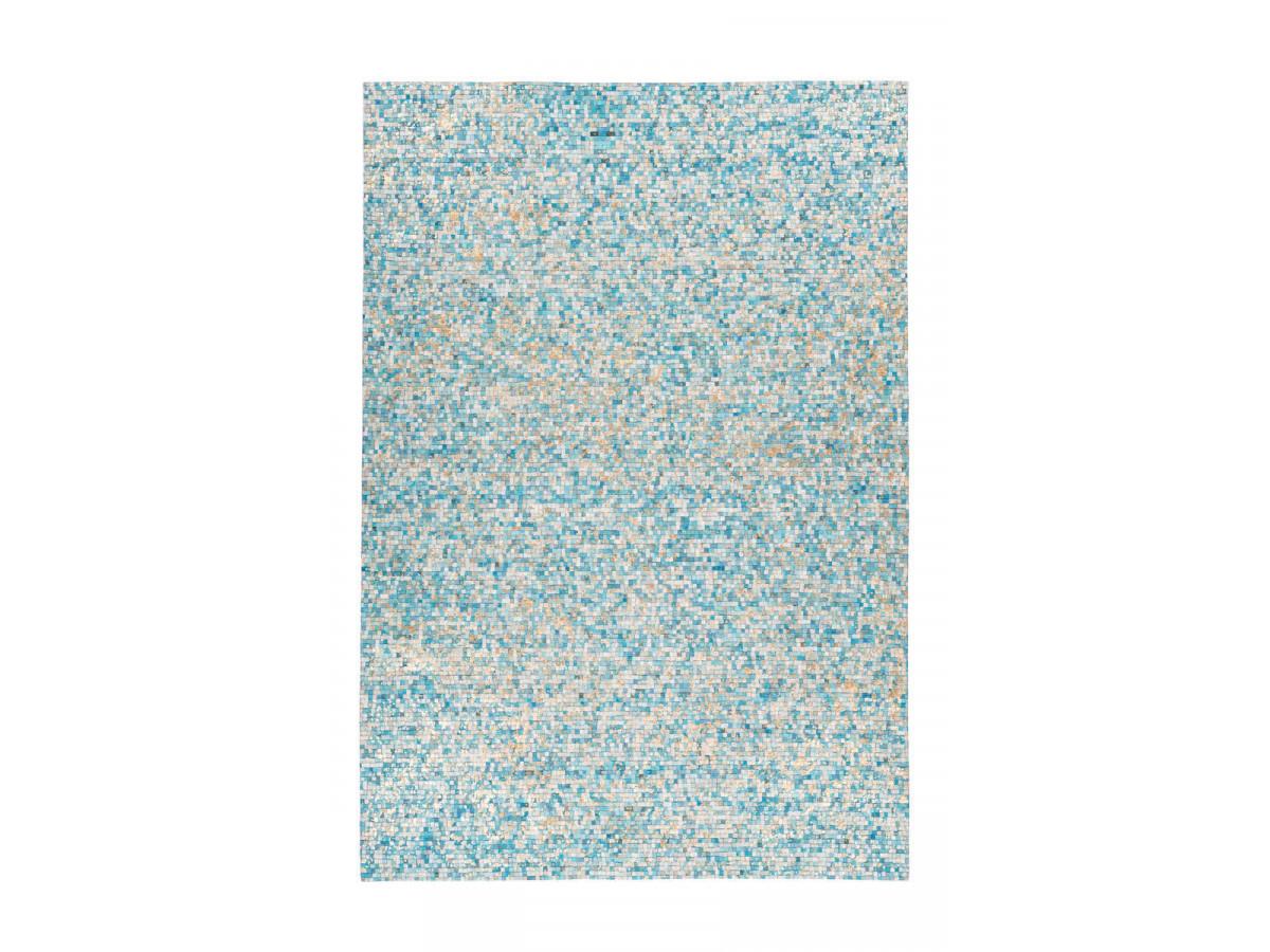 Tapis TORI Turquoise / Doré 80cm x 150cm3