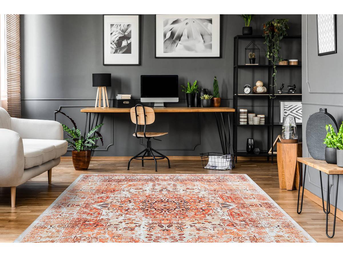 Tapis IDELIA Orange / Beige 120cm x 180cm1