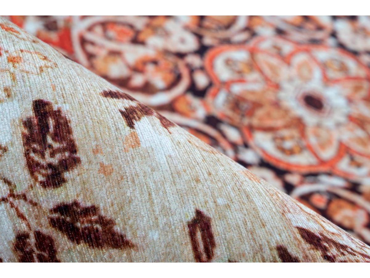 Tapis IDELIA Orange / Beige 200cm x 290cm4