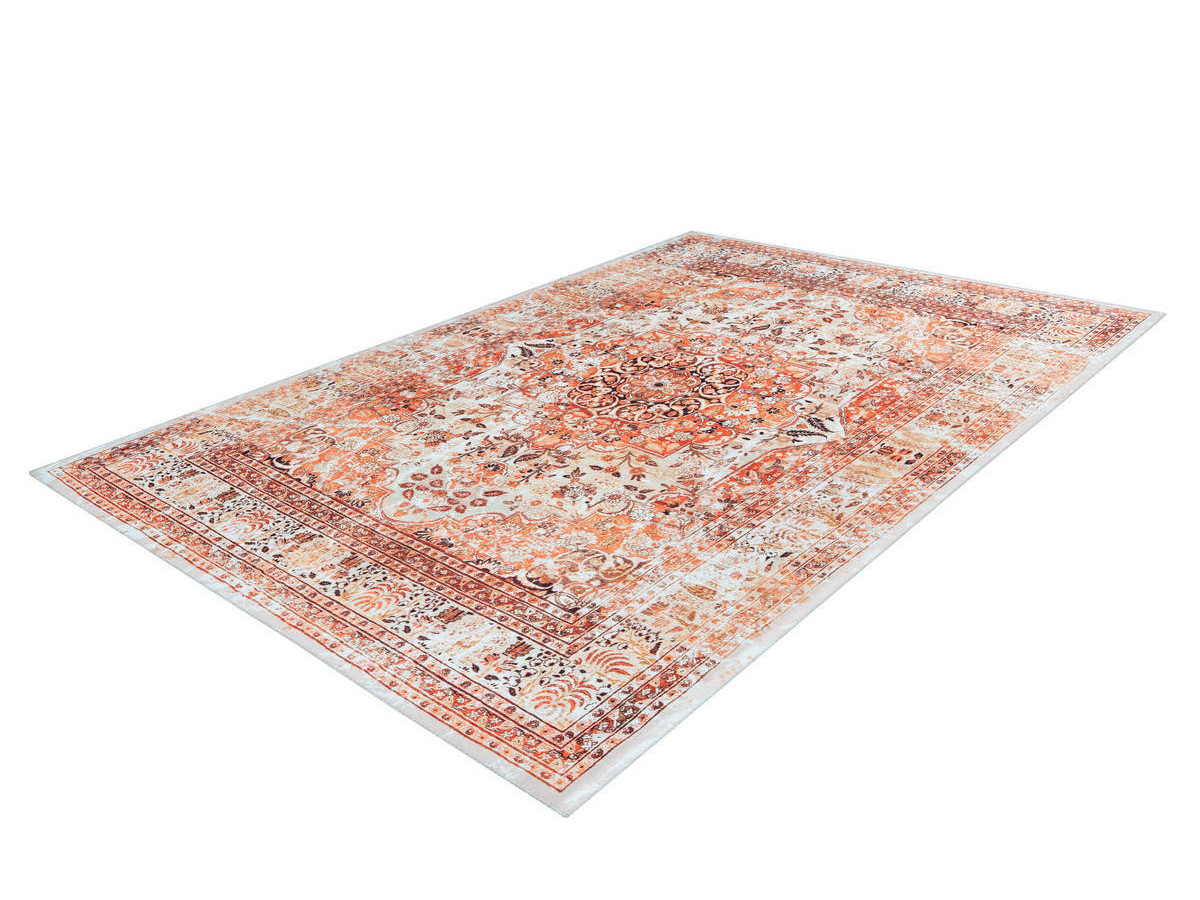 Tapis IDELIA Orange / Beige 80cm x 150cm