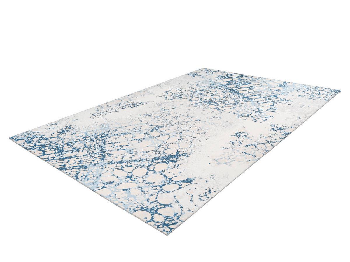 Tapis IDELIA Crème / Bleu 80cm x 150cm2