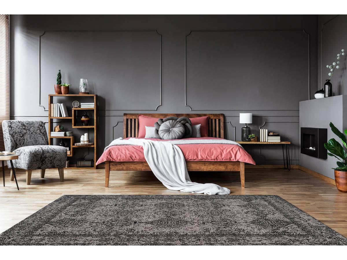 Tapis VINTO Gris / Noir 80cm x 150cm1