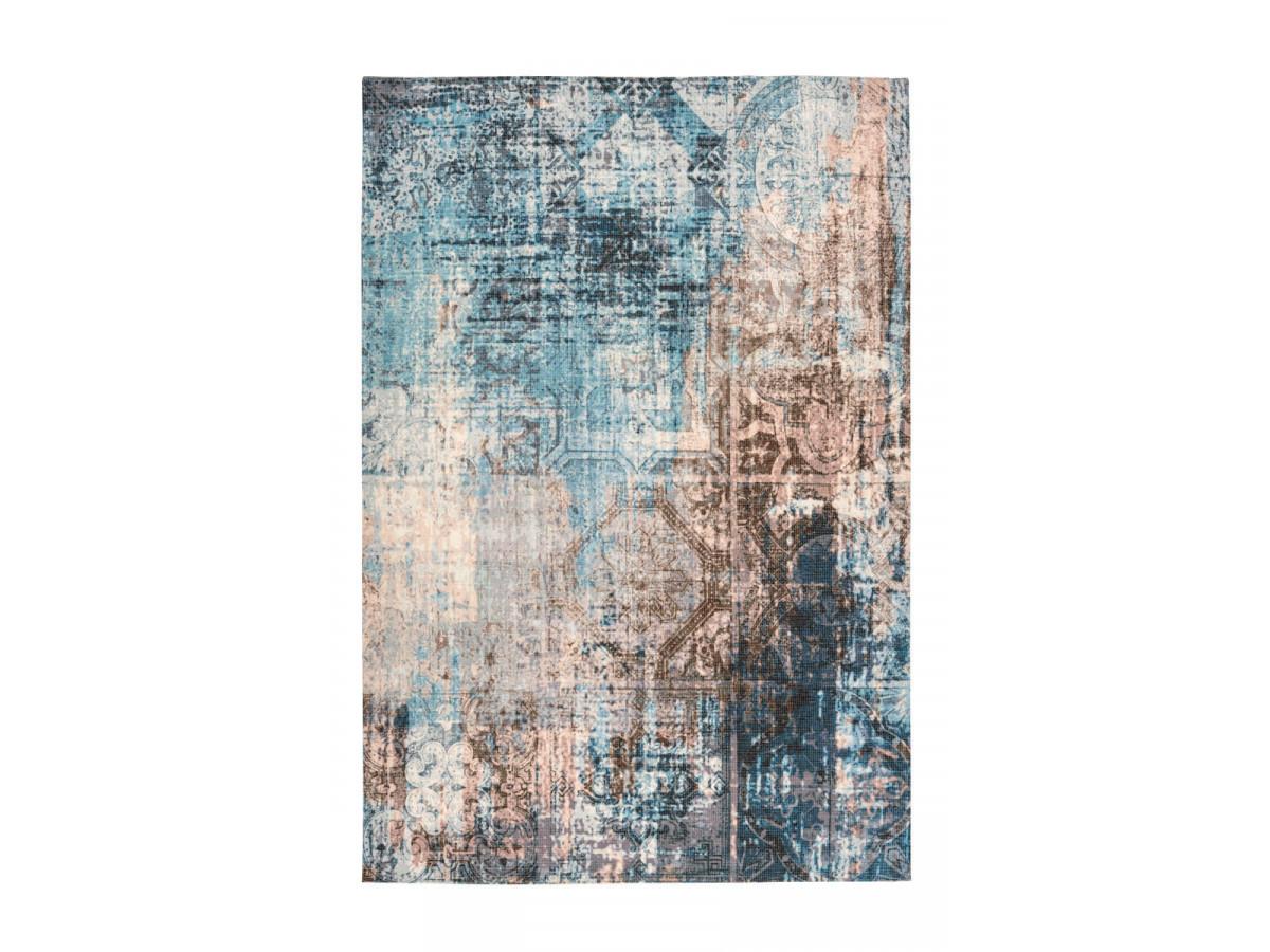 Tapis APACHE Bleu / Marron 160cm x 230cm3