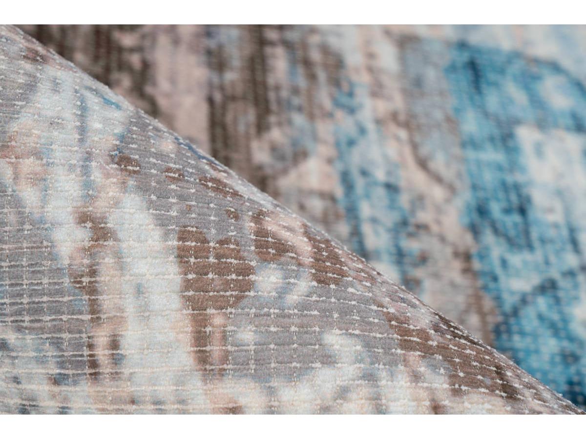 Tapis APACHE Bleu / Marron 160cm x 230cm4
