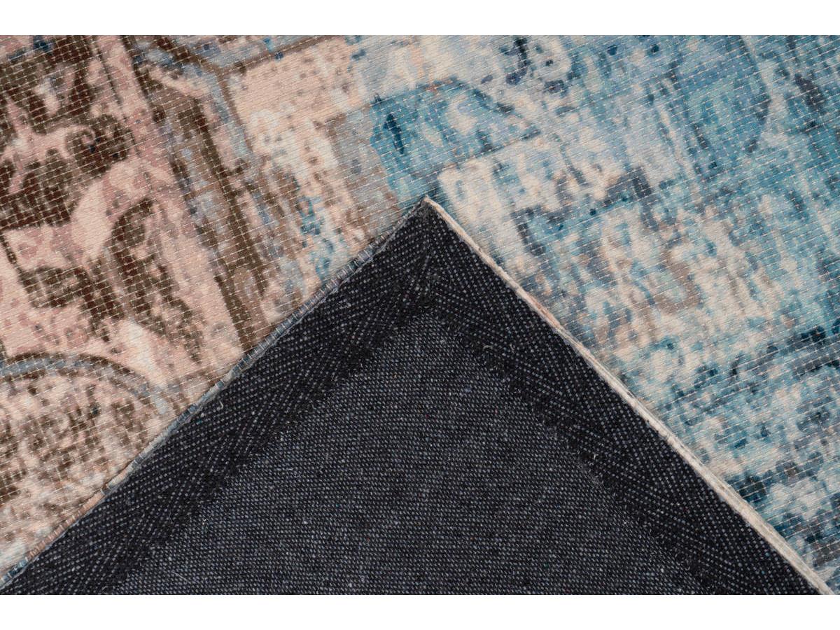 Tapis APACHE Bleu / Marron 240cm x 330cm5