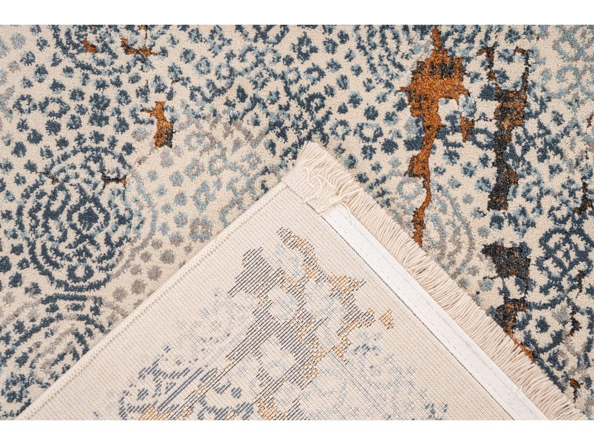 Tapis TENZO Gris / Orange 80cm x 150cm5