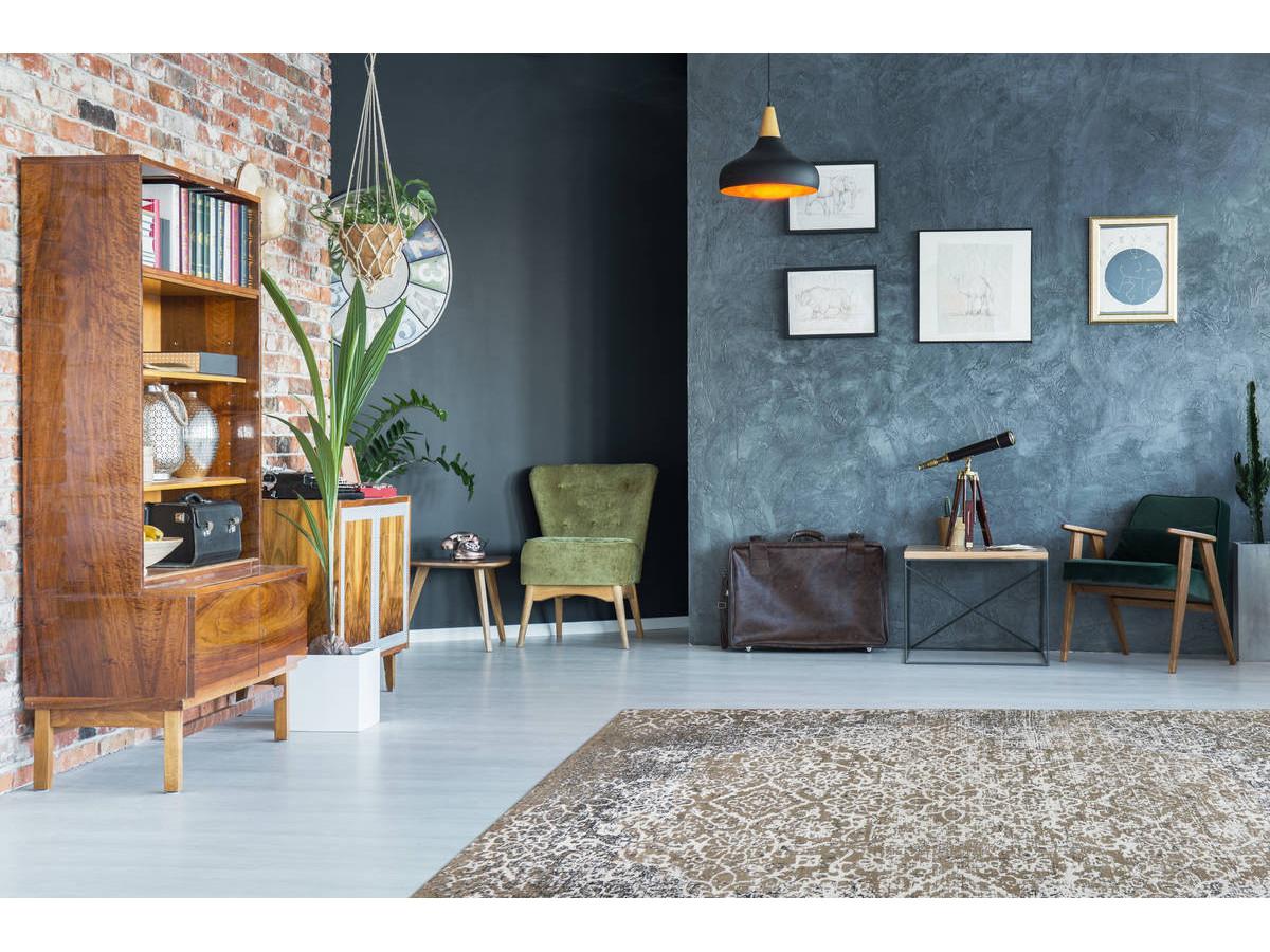 Tapis KADIX Vert olive / Multicolor 155cm x 230cm1