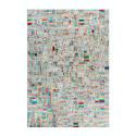 Tapis KIMI Ivoire / Multicolor 80cm x 150cm3