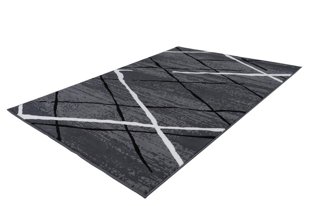 Tapis KRISTA Anthracite / Noir / Blanc 120cm x 170cm2