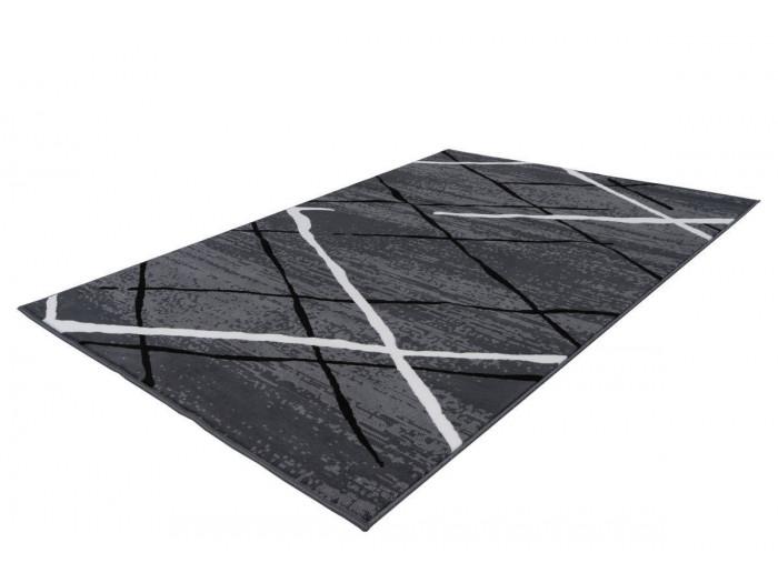 Tapis KRISTA Anthracite / Noir / Blanc 160cm x 230cm