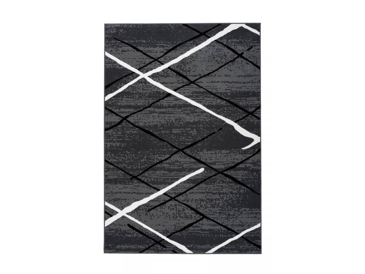 Tapis KRISTA Anthracite / Noir / Blanc 160cm x 230cm3