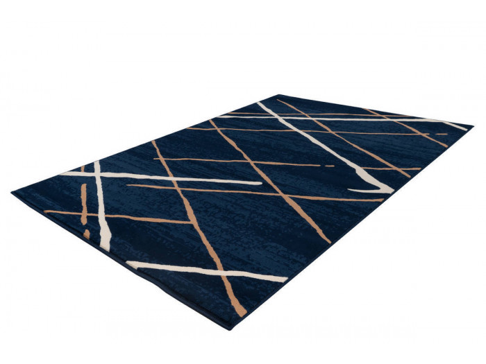 Tapis KRISTA Bleu / Beige / Blanc 120cm x 170cm