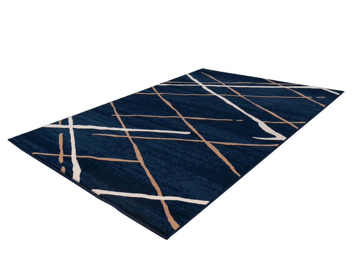 Tapis KRISTA Bleu / Beige / Blanc 160cm x 230cm