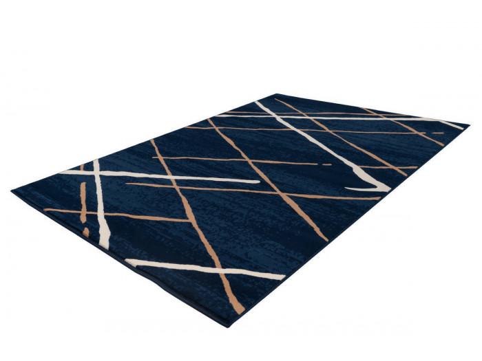 Tapis KRISTA Bleu / Beige / Blanc 80cm x 150cm