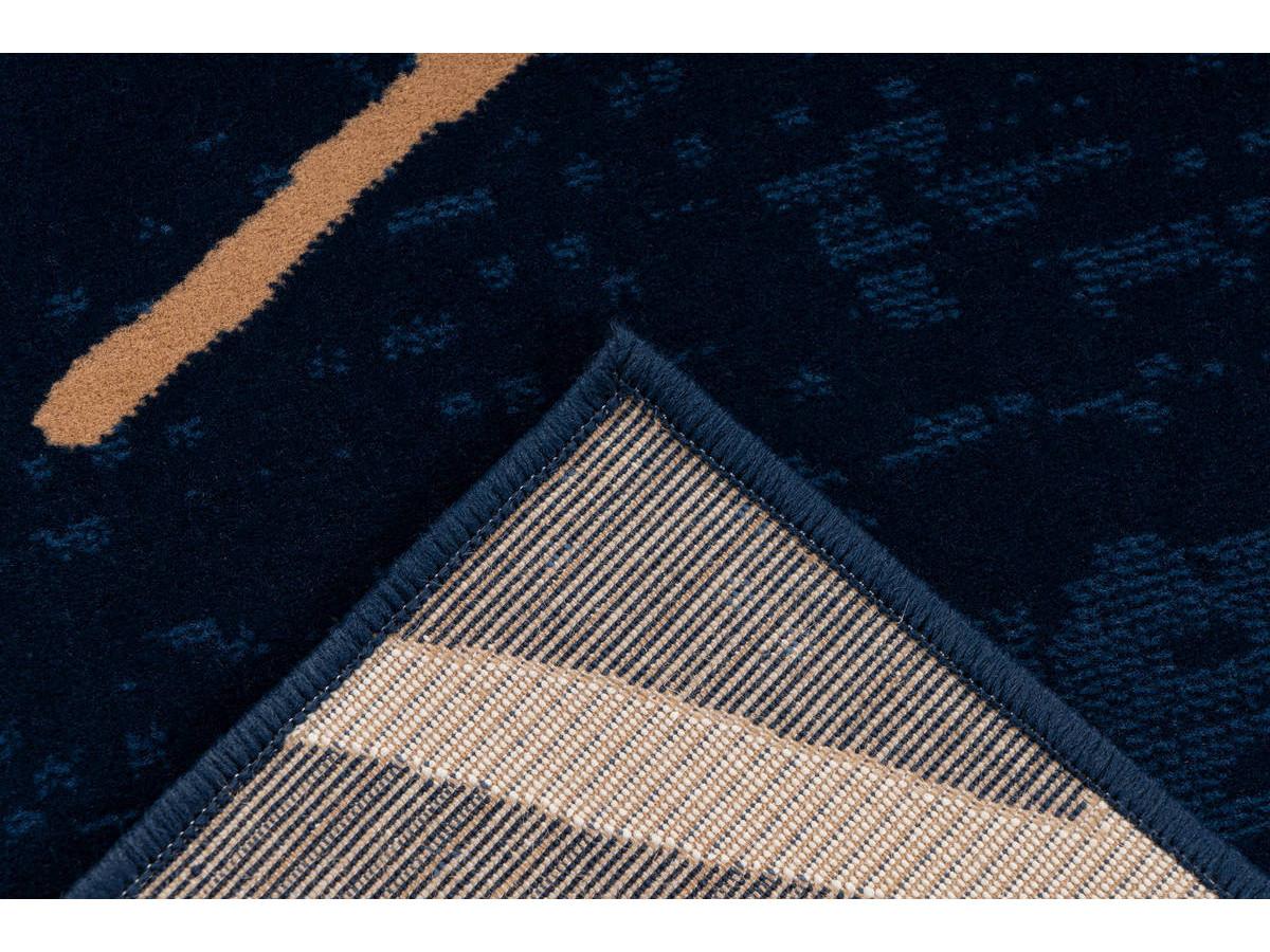 Tapis KRISTA Bleu / Beige / Blanc 80cm x 150cm5