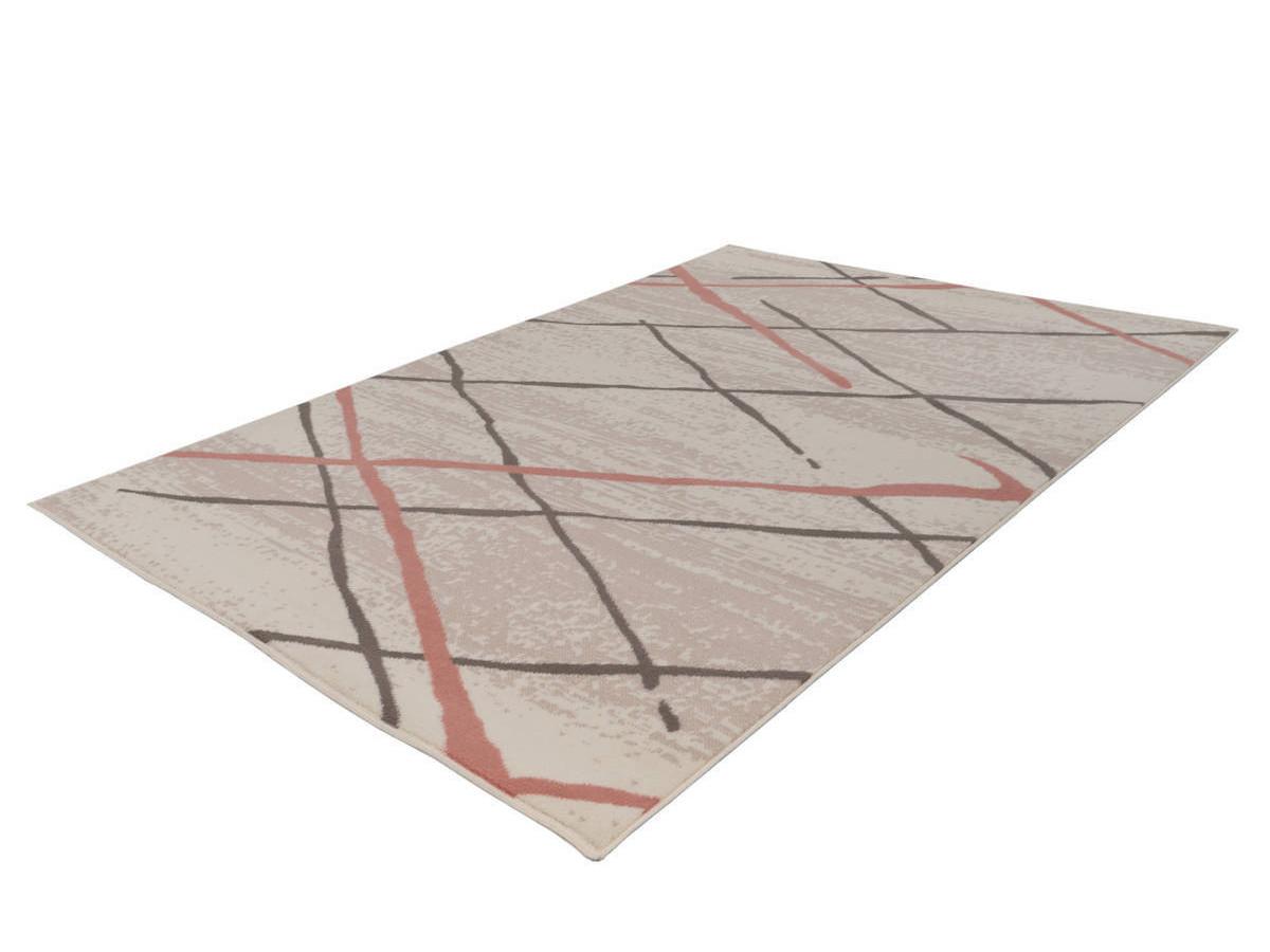 Tapis KRISTA Crème / Marron / Rosé 120cm x 170cm