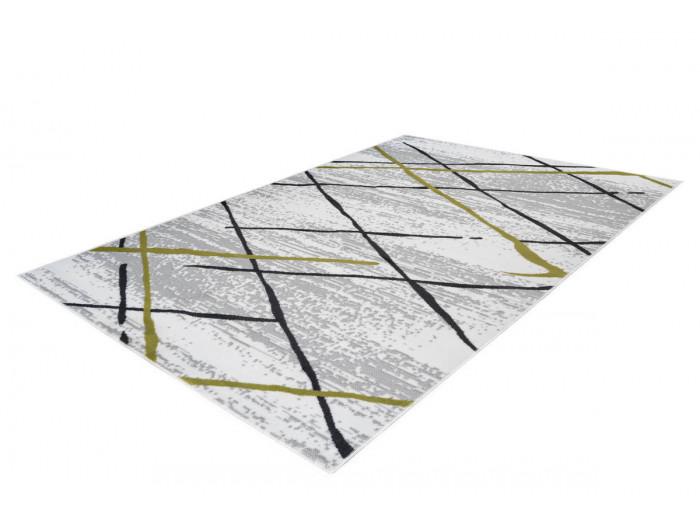 Tapis KRISTA Blanc/ Gris / Kaki 160cm x 230cm