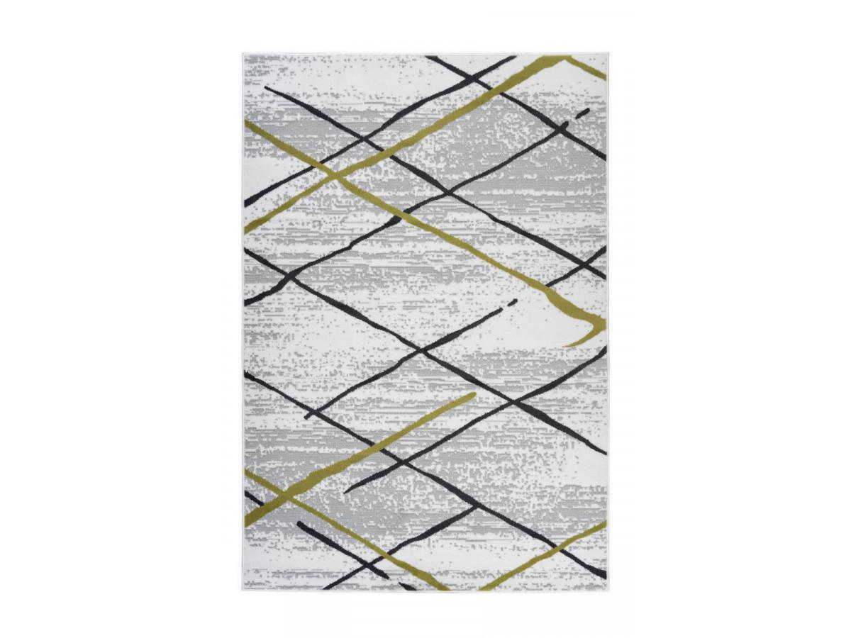 Tapis KRISTA Blanc/ Gris / Kaki 160cm x 230cm3