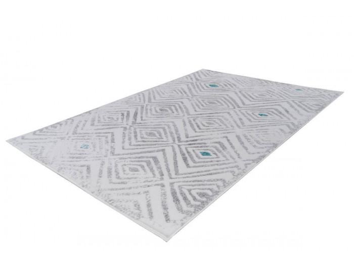 Tapis KRISTA Blanc/ Gris 160cm x 230cm