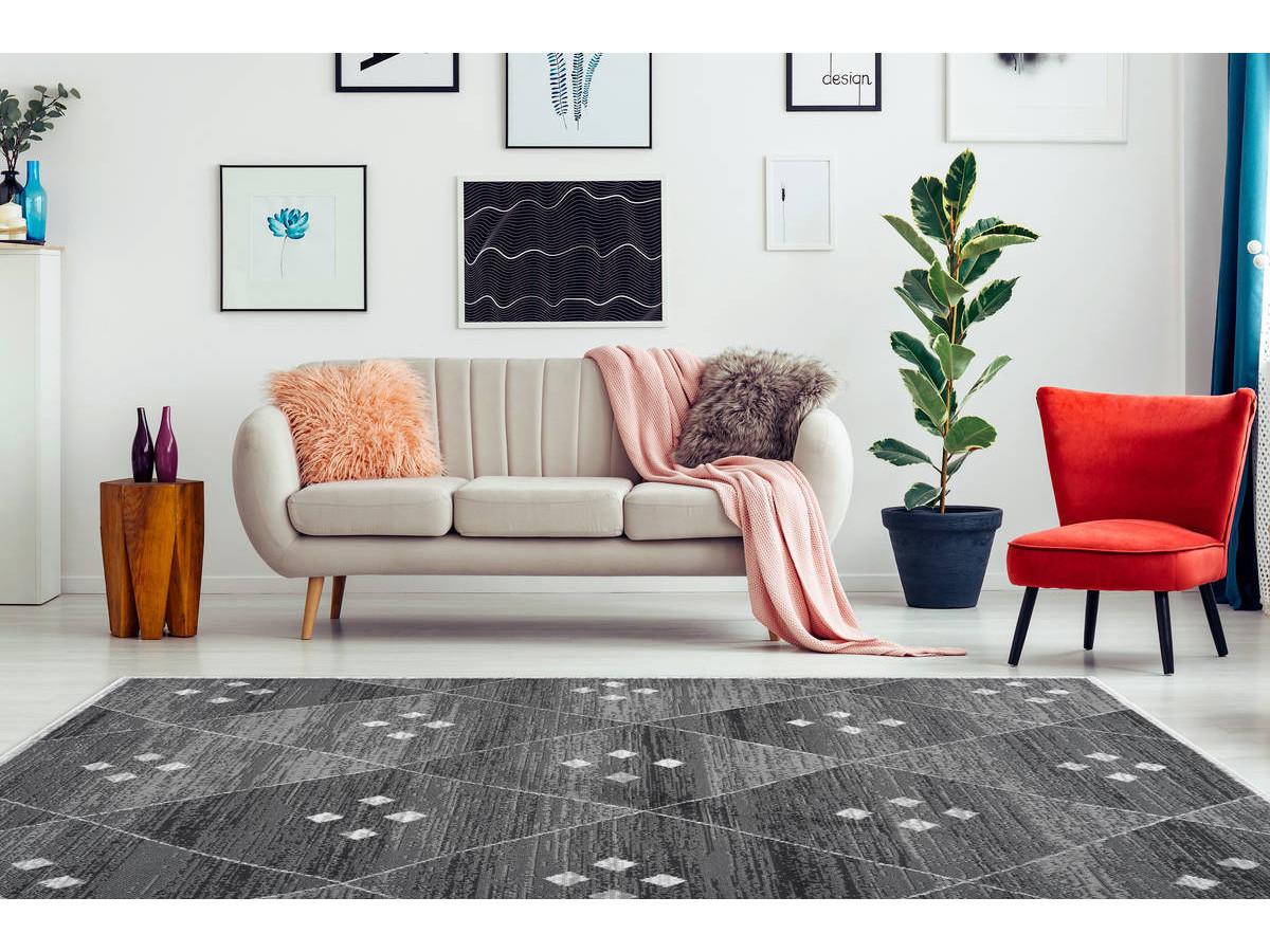 Tapis KRISTA Gris / Blanc 200cm x 290cm1