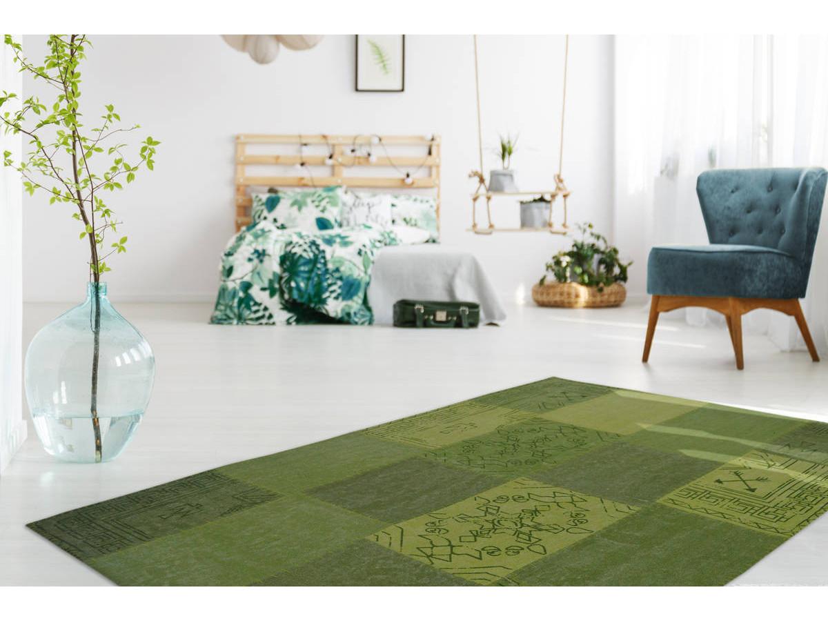 Tapis MISSO Multicolore/Vert 200cm x 290cm