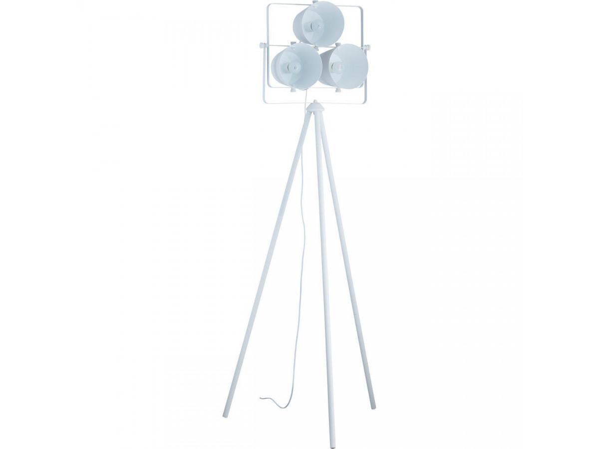 Lampadaire moderne 3 projecteurs Asare Blanc