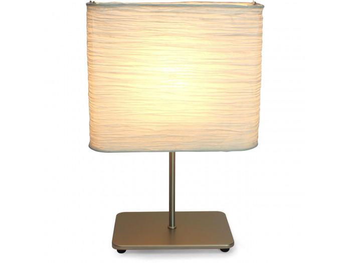 Lampe de chevet en metal argent Arthur Argent