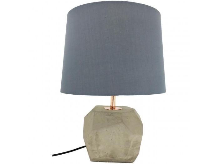 Lampe en betton et abat jour Wimbourne Beton gris