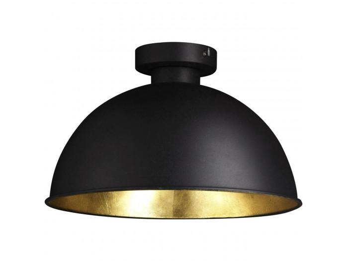 Plafonnier moderne et design Veralia Noir & Dore