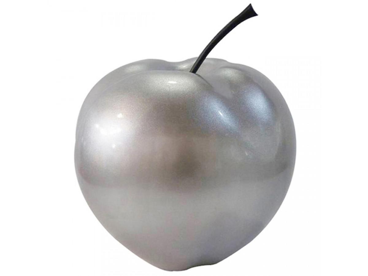 Pomme en resine elegante Finlay Argent