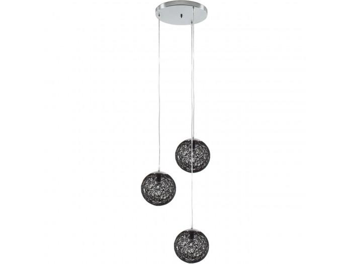 Suspension trois boules OPPALA Noir