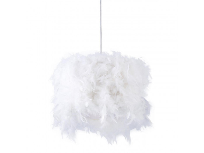 Suspension en plume Illaria Blanc