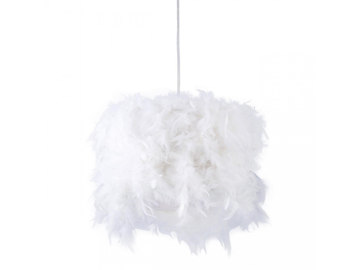 Suspension en plumes ILLARIA Blanc