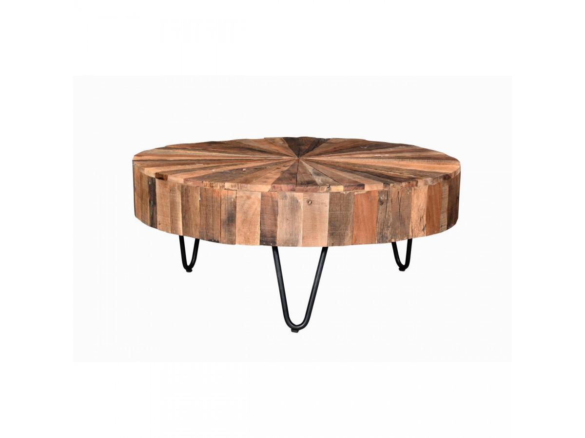Table basse en bois recyclé BANGALORE