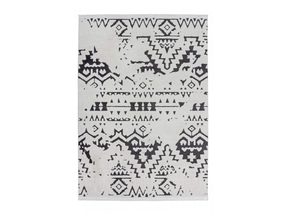 Tapis HIMBA Blanc / Noir 160cm x 230cm