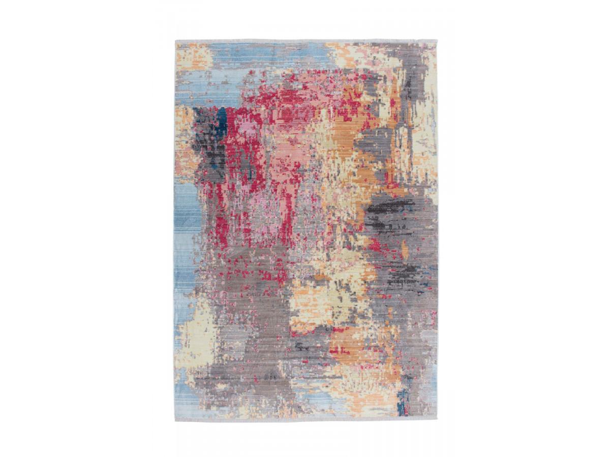 Tapis FONZY Multicolor / Bleu / Rouge / Jaune 80cm x 150cm