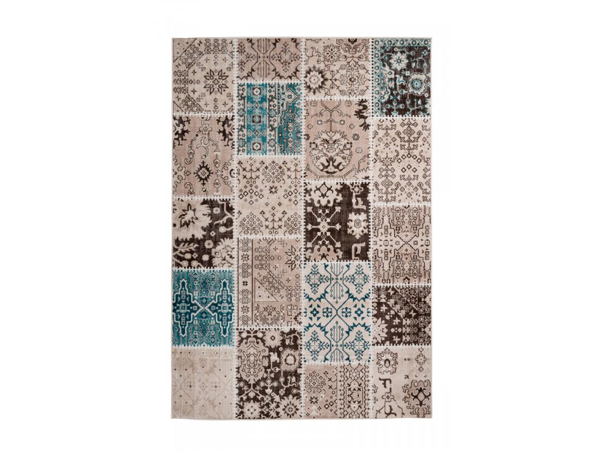 Tapis STINSON Multicolor / Marron / Bleu 120cm x 180cm