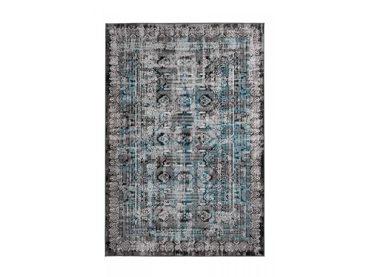 Tapis MARIKA Gris / Bleu 200cm x 290cm