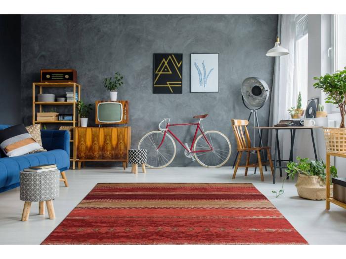 Tapis SALOMA Multicolor / Rouge 195cm x 290cm