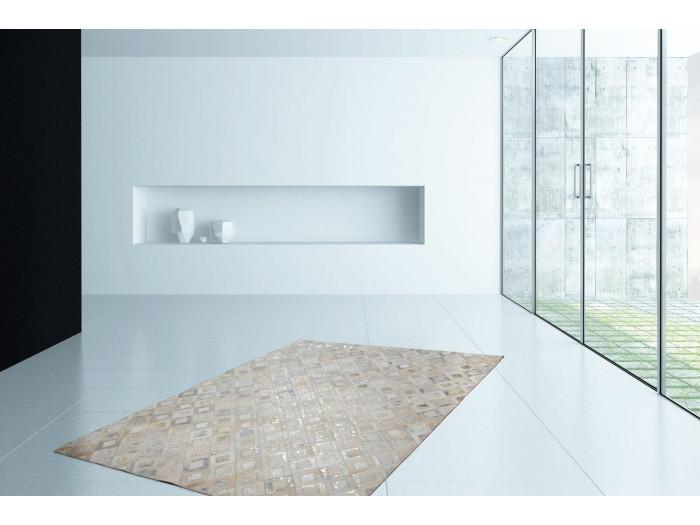 Tapis KHALED Gris / Argent 120cm x 180cm