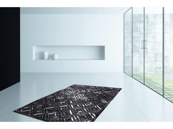 Tapis KHALED Noir/ Argent 120cm x 180cm