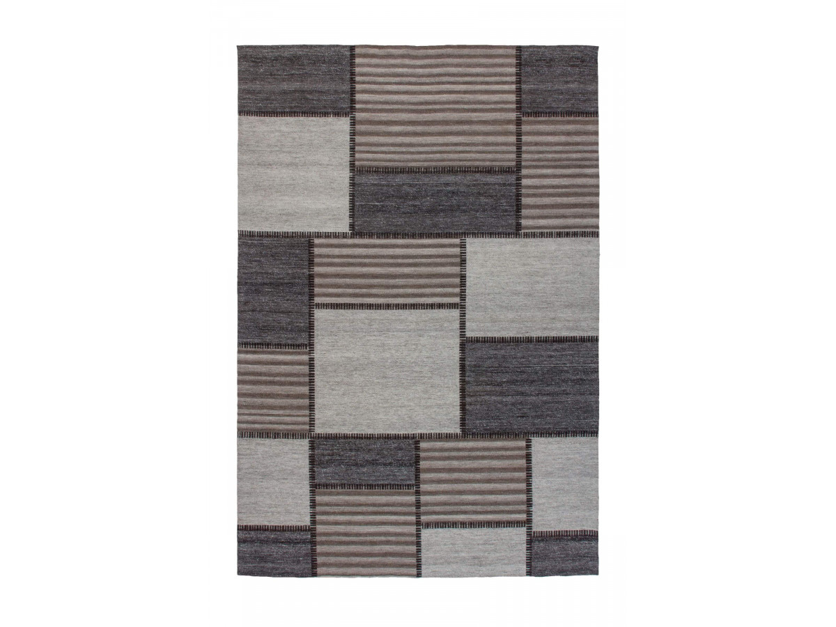 Tapis EASY Gris / Marron 80cm x 150cm