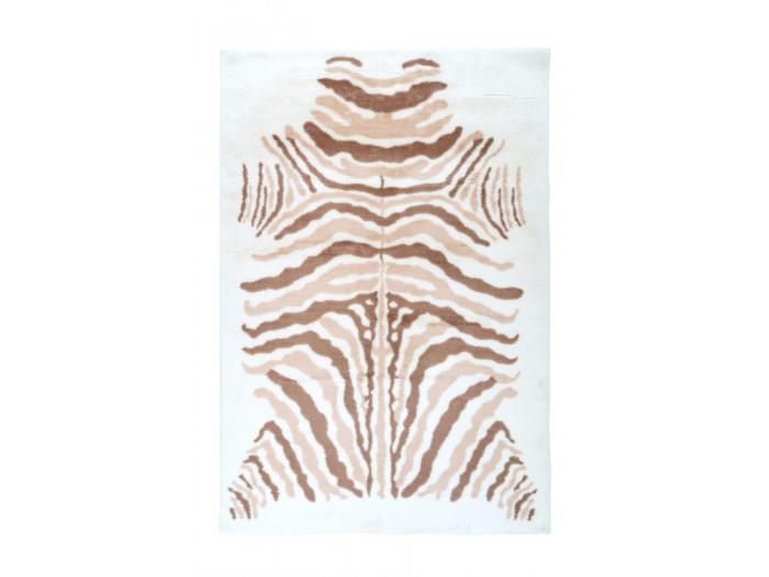 Tapis ZORI Ivoire / Taupe / Blanc 120cm x 160cm