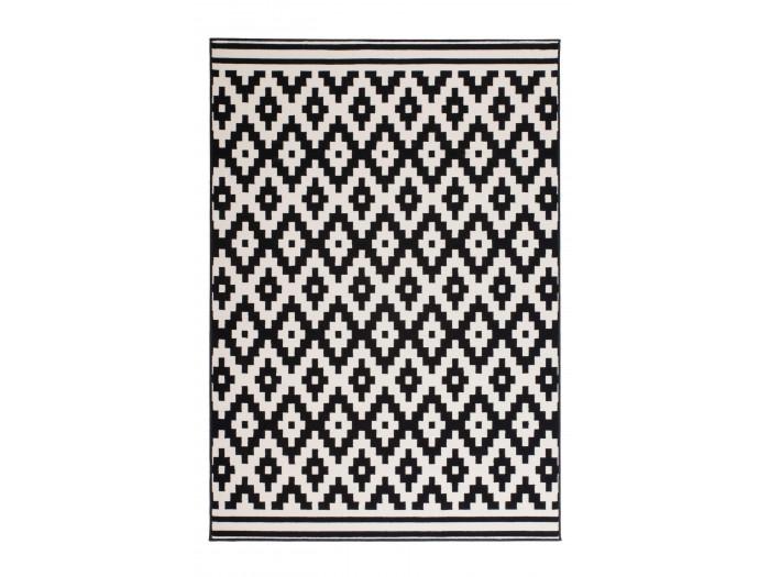 Tapis HUNDIE Noir / Blanc 160cm x 230cm