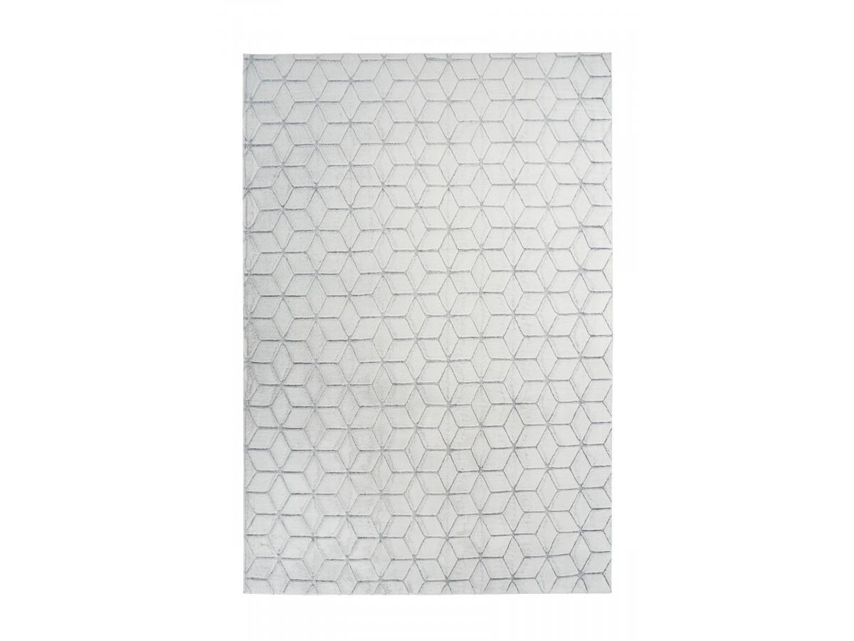 Tapis SIGMA Blanc / Gris 120cm x 160cm