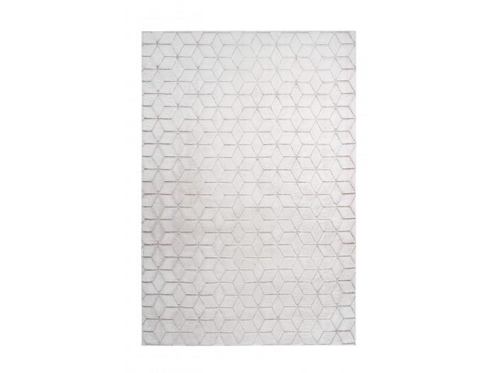 Tapis SIGMA Blanc / Blanc rosé 160cm x 230cm