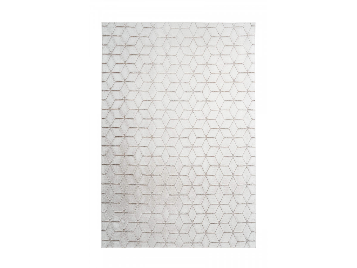 Tapis SIGMA Blanc / Blanc cassé 120cm x 160cm