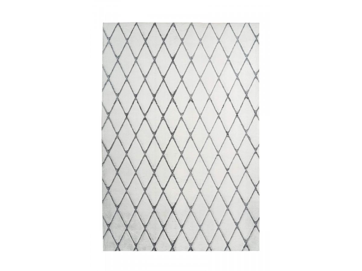 Tapis BETA Blanc / Anthracite 80cm x 150cm