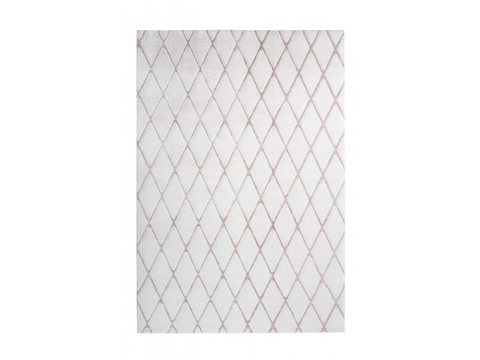 Tapis BETA Blanc / Blanc rosé 80cm x 250cm